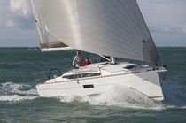 Cruising sailboat / open transom / with 2 or 3 cabins / twin steering wheels