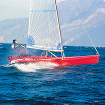 Single-handed sailing dinghy / regatta / skiff / asymmetric spinnaker