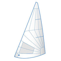 Jib / for one-design sport keelboats / radial cut
