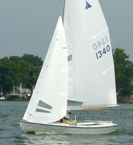Mainsail sail / for one-design sport keelboats / radial cut