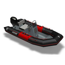 Outboard inflatable boat / semi-rigid / center console / diving
