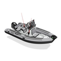 Outboard inflatable boat / diesel / semi-rigid / center console