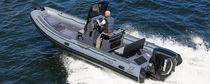 Outboard inflatable boat / semi-rigid / center console / with T-top