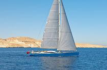 Cruising-racing sailing yacht / deck saloon / custom