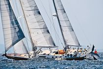 Cruising-racing sailing yacht / open transom / ketch / custom