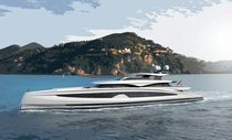 Cruising mega-yacht / raised pilothouse / steel / 12-cabin