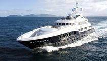 Cruising mega-yacht / wheelhouse / aluminum / semi-displacement hull