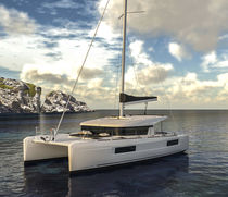 Sailing catamaran / cruising / open transom / with 3 or 4 cabins