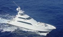 Convertible luxury super-yacht / raised pilothouse / sport-fishing / aluminum