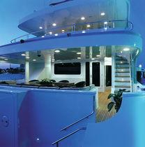 Cruising mega-yacht / raised pilothouse / aluminum / 10-cabin