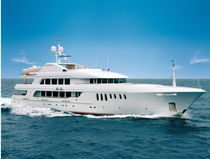 Raised pilothouse mega-yacht / cruising / steel / custom