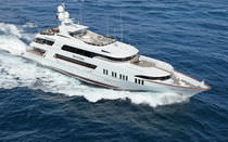 Wheelhouse mega-yacht / high-speed / aluminum / custom