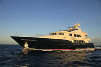 Raised pilothouse super-yacht / cruising / aluminum / displacement hull