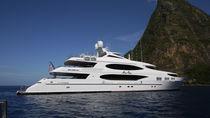Cruising mega-yacht / raised pilothouse / aluminum / custom