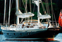 Cruising sailing yacht / open transom / ketch