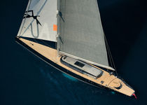 Cruising sailing super-yacht / open transom / custom
