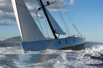 Cruising sailing super-yacht / carbon / open transom