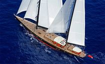 Classic sailing yacht / open transom / ketch