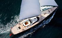 Cruising-racing sailing yacht / aluminum / open transom / custom