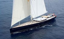 Cruising-racing sailing yacht / carbon / open transom / custom