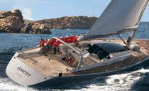 Racing sailing yacht / open transom / carbon