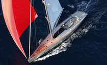 Racing sailing yacht / carbon / open transom