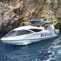 Inboard glass-bottom boat / outboard / hydrofoil