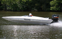 Outboard runabout / dual-console / offshore / 4-person max.