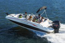 Outboard deck boat / wakeboard / 11-person max.