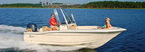 Outboard center console boat / sport-fishing / 7-person max. / with T-top