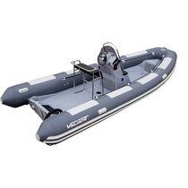 Outboard inflatable boat / semi-rigid / center console / 10-person max.