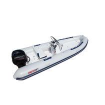 Outboard inflatable boat / semi-rigid / side console / 9-person max.