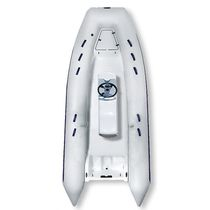 Inflatable boat with jockey console / semi-rigid
