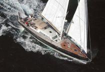 Cruising sailing yacht / open transom / aluminum