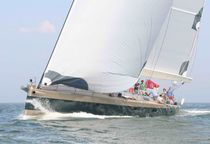 Cruising sailing yacht / aluminum / open transom / lifting keel