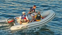 Outboard inflatable boat / semi-rigid / 12-person max.