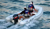 Outboard inflatable boat / semi-rigid / 6-person max.