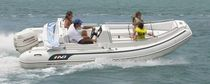 Outboard inflatable boat / semi-rigid / side console / 10-person max.