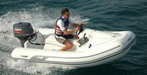 Outboard inflatable boat / semi-rigid / with jockey console / 4-person max.