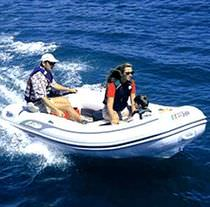 Outboard inflatable boat / semi-rigid / 5-person max.