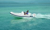 Outboard inflatable boat / semi-rigid / side console / 10-person max.