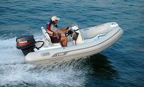 Outboard inflatable boat / semi-rigid / side console / 6-person max.