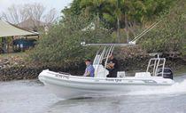 Outboard inflatable boat / semi-rigid / center console / 15-person max.