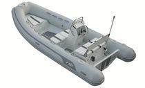 Semi-rigid inflatable boat / side console / 9-person max.