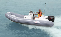 Outboard inflatable boat / semi-rigid / side console / 12-person max.