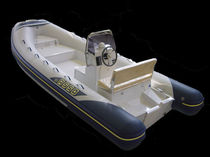 Outboard inflatable boat / semi-rigid / center console / sundeck
