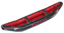 Multi-use canoe / inflatable / 2-seater / polyester