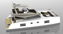 Catamaran motor yacht / ocean cruising / flybridge