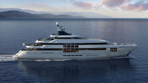 Steel mega-yacht / with helideck / with swimming pool