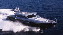 Cruising motor yacht / hard-top / aluminum / planing hull